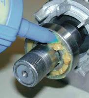 lubrificação e reparos com segurança