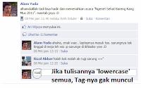 Tag Teman Facebook Tanpa at, @