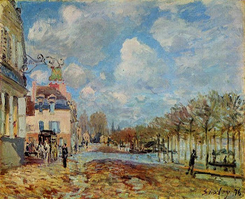 Sisley:The Flood at Port Marley