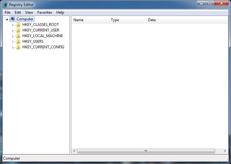 Данная команда запустит редактор реестра. HKEY_CURRENT_CONFIG - данный раз