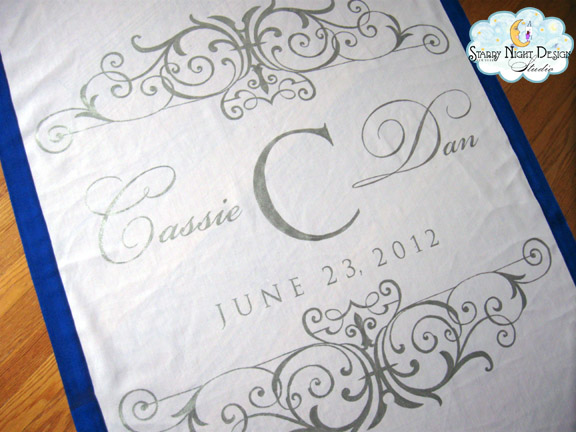 Aisle Paint For You: Cassie\'s Elegant Metallic Silver and Royal Blue ...