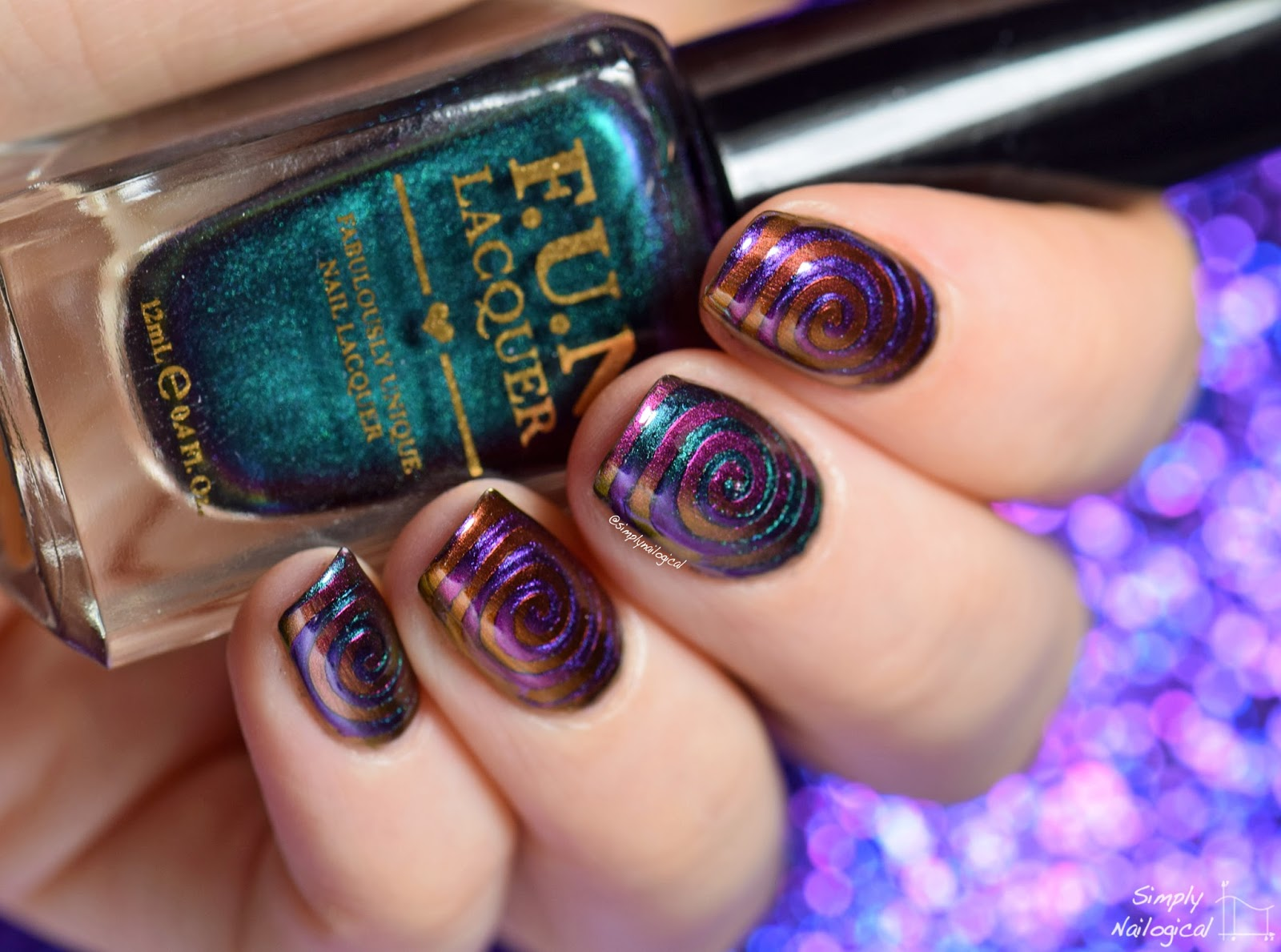 Simply Nailogical: FUN Lacquer multi-chrome trippy cyclones