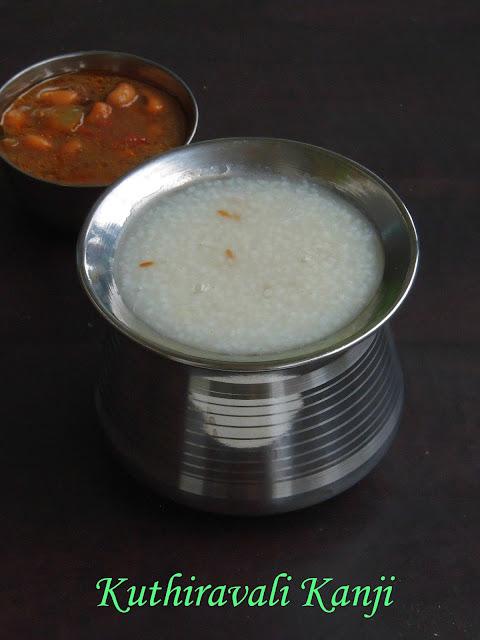 Barnyard Millet Porridge, Kuthiravali Kanji, Millet Kanji