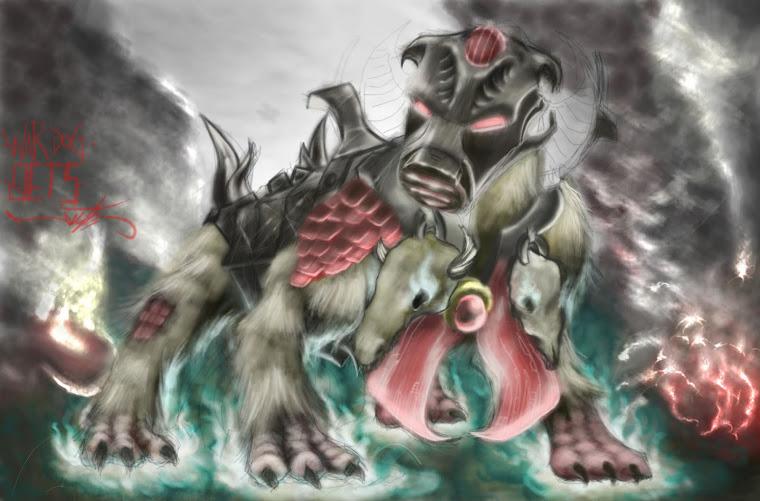 Perro de guerra. (War-dog)