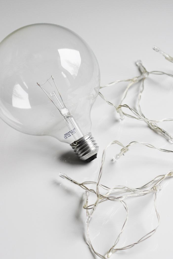 DIY bulb christmas lights | Hehkulampusta jouluvalo