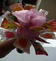 kwiatek z lizaków
