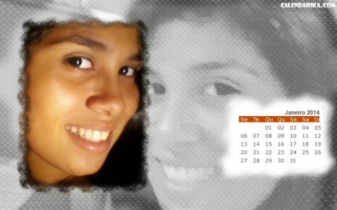 calendário com foto