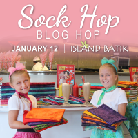 ISLAND BATIK SOCK HOP BLOG HOP