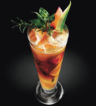 Unwind with a favorite, 'Pimm's Cup' the traditional British drink.