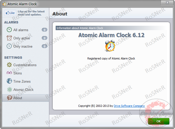 atomic alarm clock 6.0 serial number