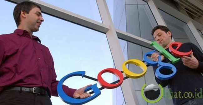 Sergey Brin and Larry Page (pendiri google)