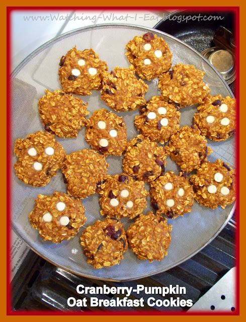 Cranberry-Pumpkin Oat Breakfast Cookies ~ The ruby red cranberries are ...