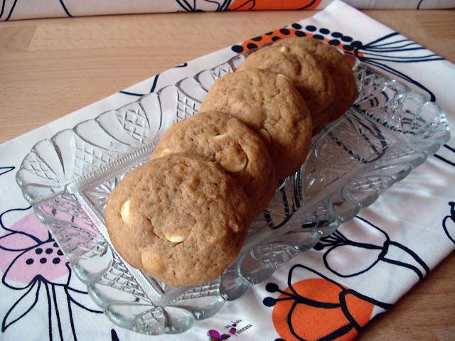 galletas, cookies, crema de cacahuete, chocolate blanco, chocolate,