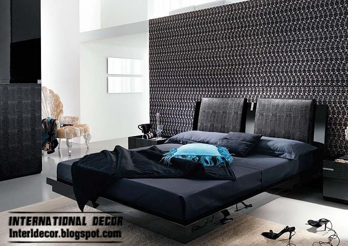New Design Of Black And White Bedroom Decoration 2013