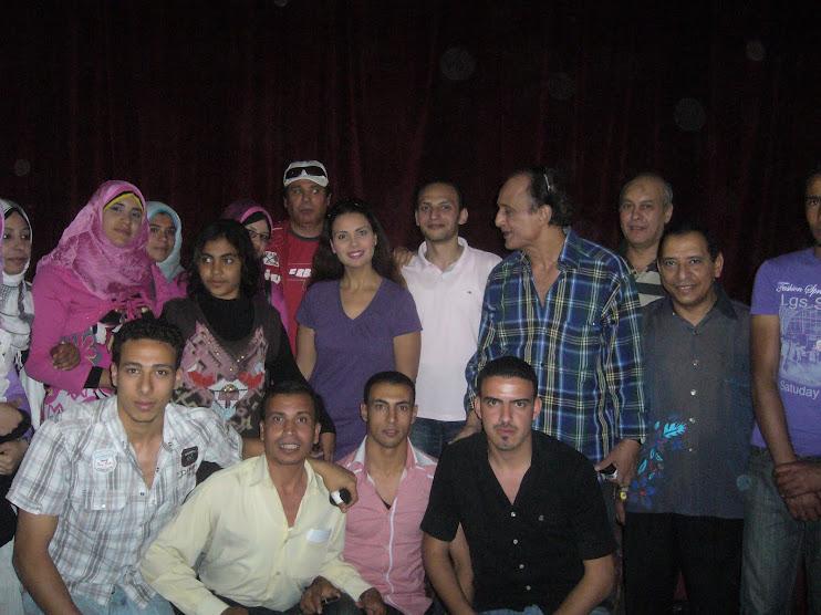 مع الفنان محمود مسعود والفنان ناصر سيف وطلبة كلية تربية نوعية جامعة طنطا