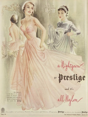vintAGE 1950 NIGHTGOWN AD