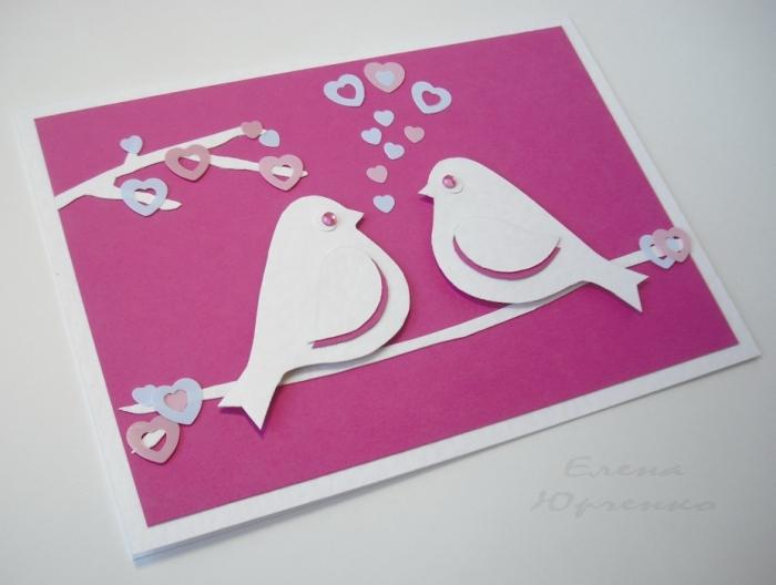 Как сделать из бумаги белой открытку