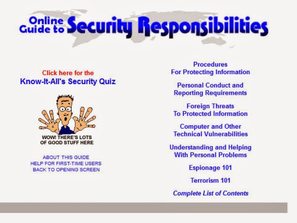 Free security awareness material