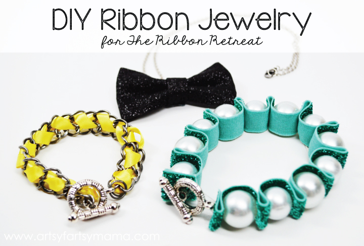 DIY Ribbon Jewelry from artsyfartsymama.com #jewelry #ribbon