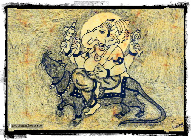 ancient old ganesha