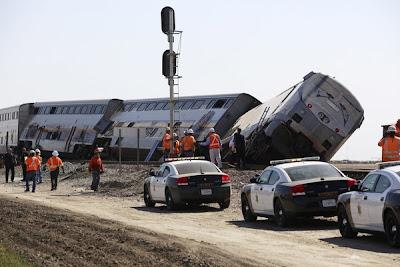 kereta api tergelincir