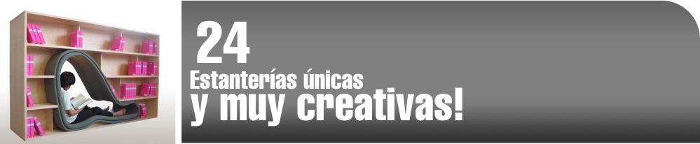 Estanterías únicas y muy creativas