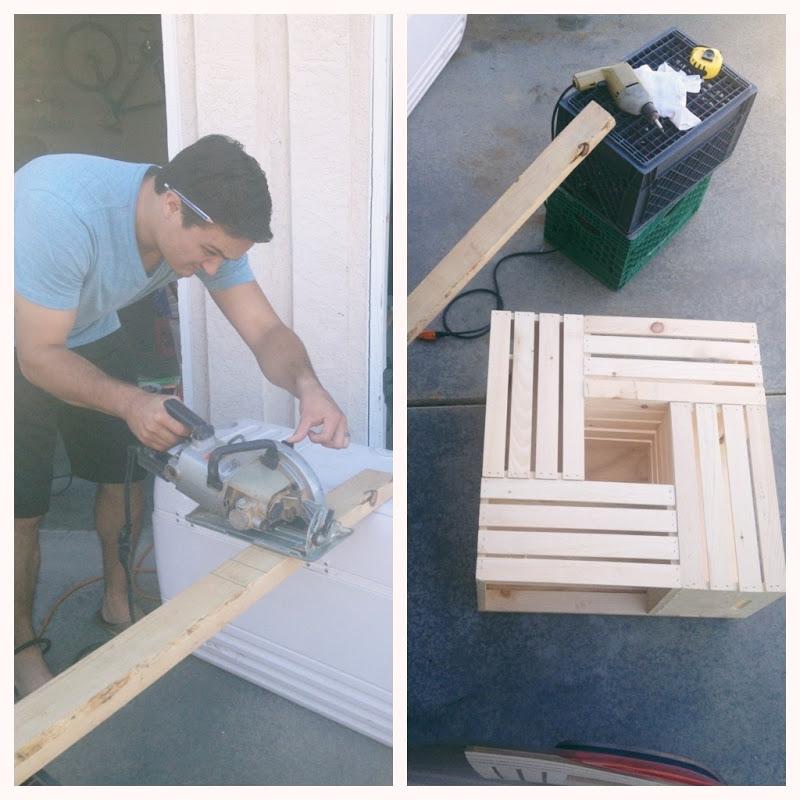 team gilster diy wood crate coffee table. Black Bedroom Furniture Sets. Home Design Ideas
