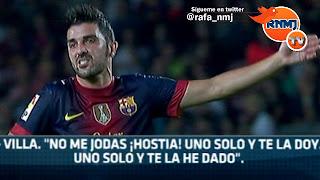 """Villa a Messi: """"No me jodas ¡hostia! uno solo y te la doy, uno solo y te la he dado"""""""