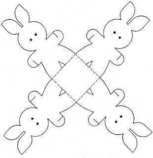coelhinho cestinha molde Lembrancinhas para Páscoa e moldes