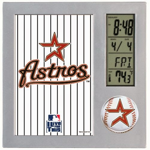 Houston Astros MLB Digital Desk Clock