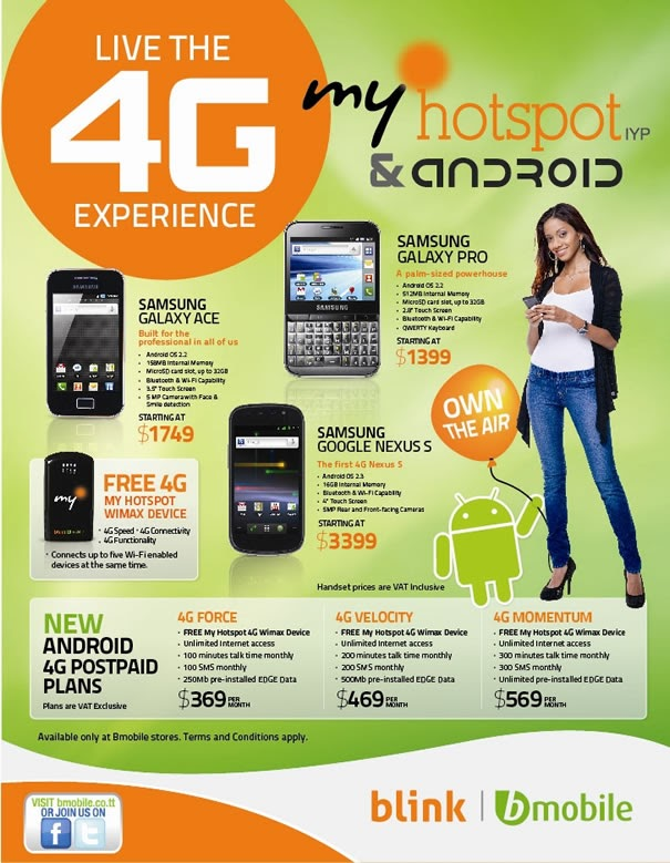TECHS & GADGETS: Bmobile Introduces 4G My Hotspot IYP To ...
