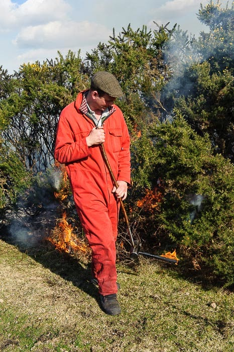 Member of the Controlled Burning team New Forest UK