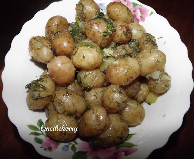 молодая картошка горох