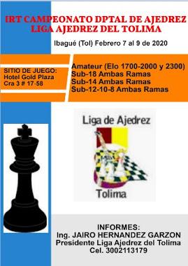 Liga de Ajedrez del Tolima: IRT Selectivos Departamentales (Dar clic a la imagen)