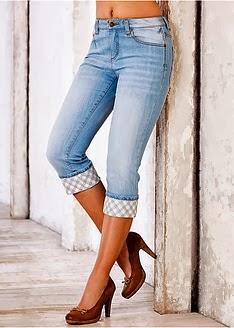 Как сделать из джинс бриджи модные 161