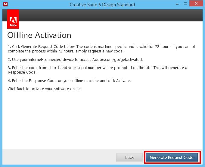 adobe master collection cs6 request code generator