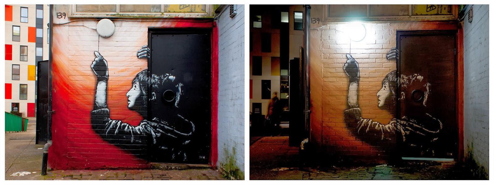 Great New Street Art Stencil By Spanish Urban Artist Sr X on the streets of London