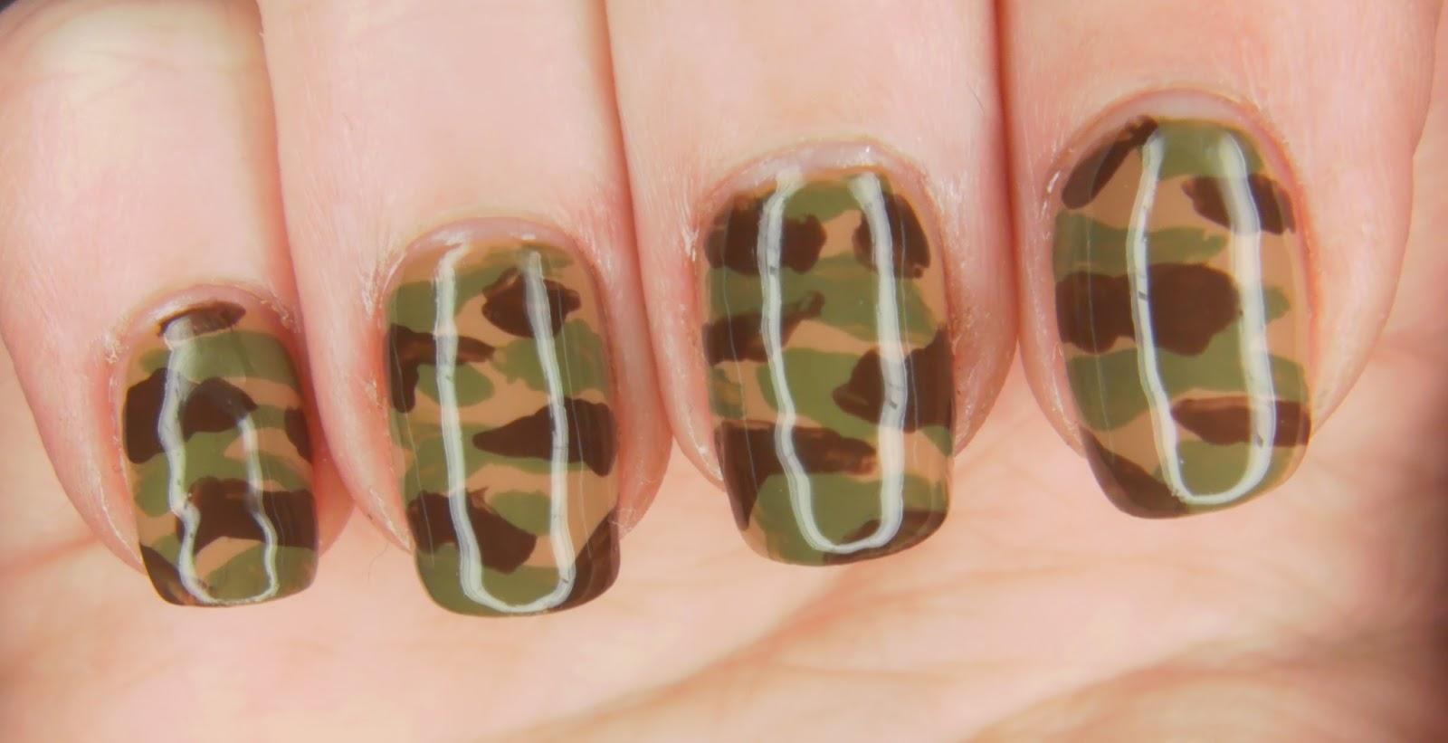Specialgirl Nails Opi Camo Nail Art