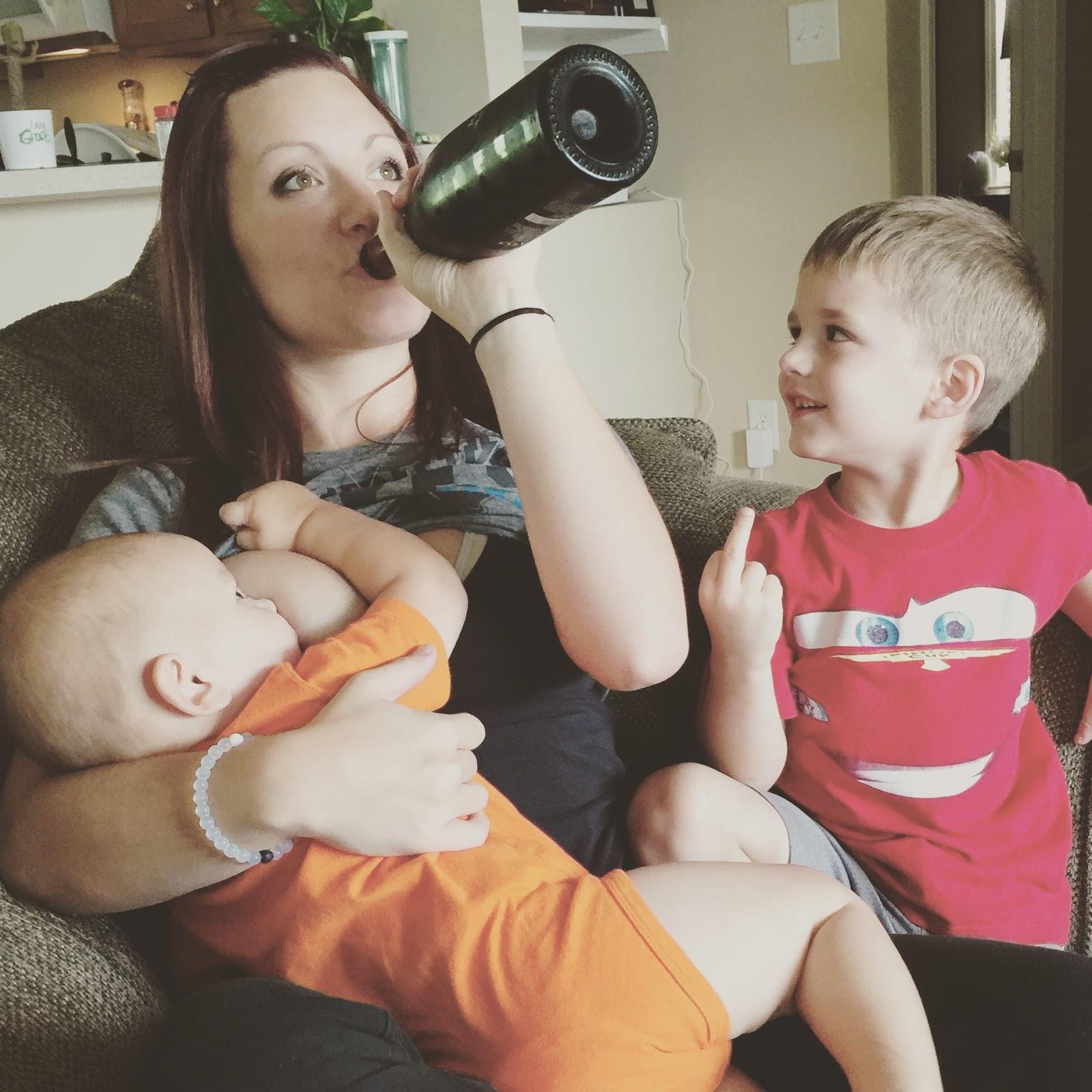 wine during breastfeeding