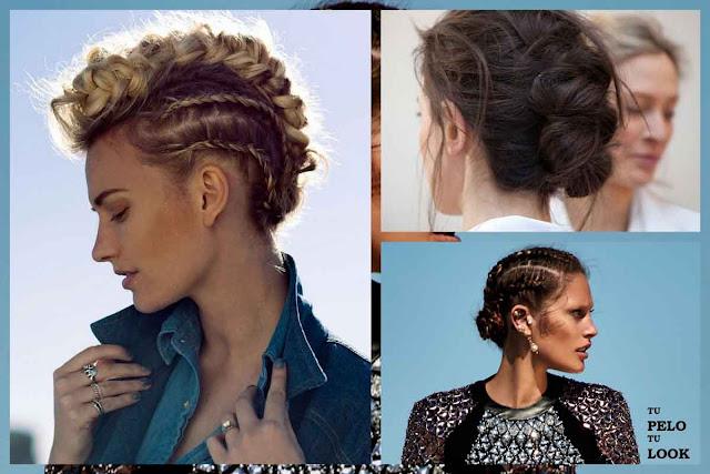peinados con trenzas 2015