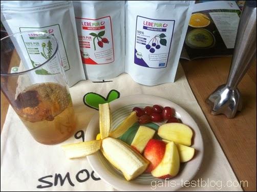 Lebepur Smoothies und frisches Obst