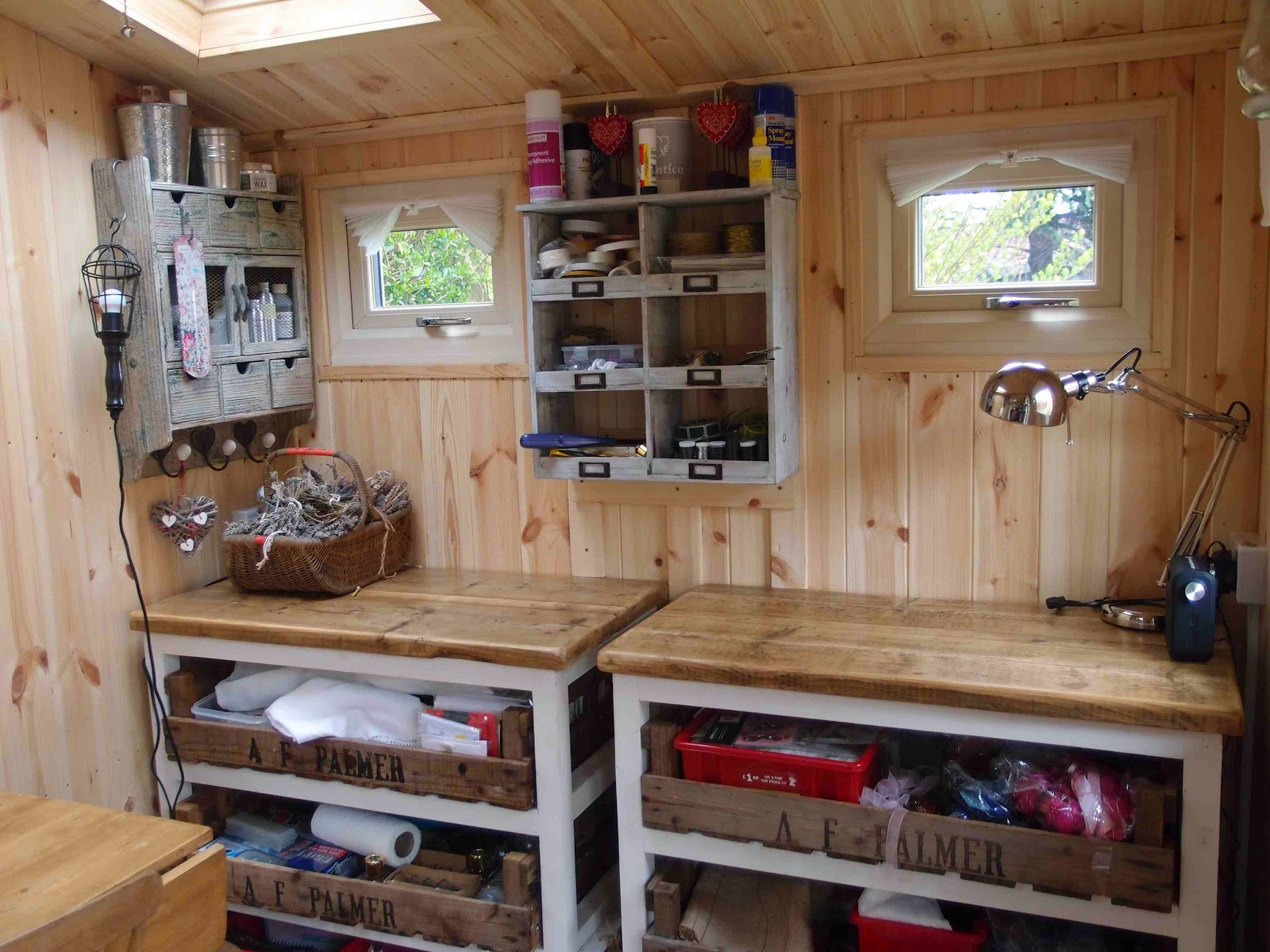 Shedworking catherine simpson 39 s 39 wendy house 39 for Wendy house ideas inside