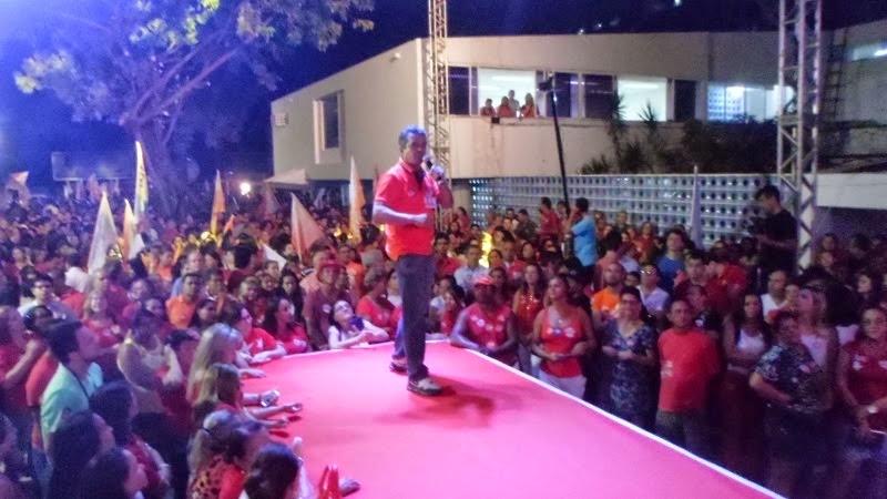 INAUGURAÇÃO DO COMITÊ DE LUCÉLIO. PROFESSOR RAFAEL FEZ DISCURSO PROL A REELEIÇÃO DE RICARDO