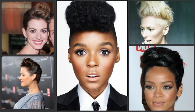 Rihanna, Janelle Monae, Anne Hatheway, Tilda Swinton, hair