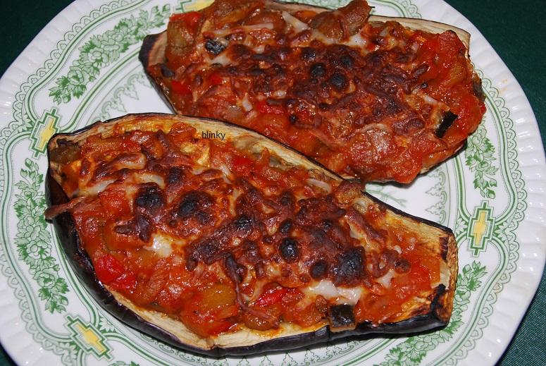 Las recetas de blinky berenjenas al horno rellenas de pisto - Berenjenas rellenas al horno ...