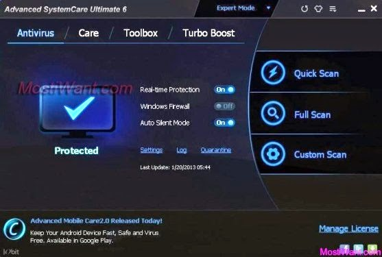 Advanced SystemCare 7 Ultimate Key