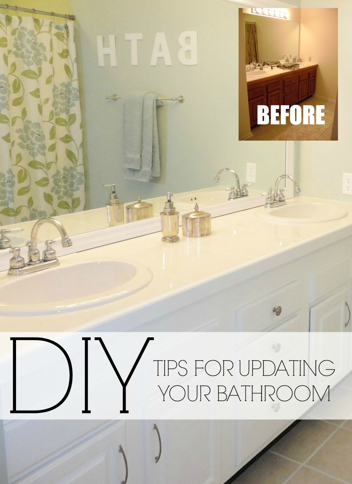 Livelovediy easy diy ideas for updating your bathroom for Bathroom furnishing ideas