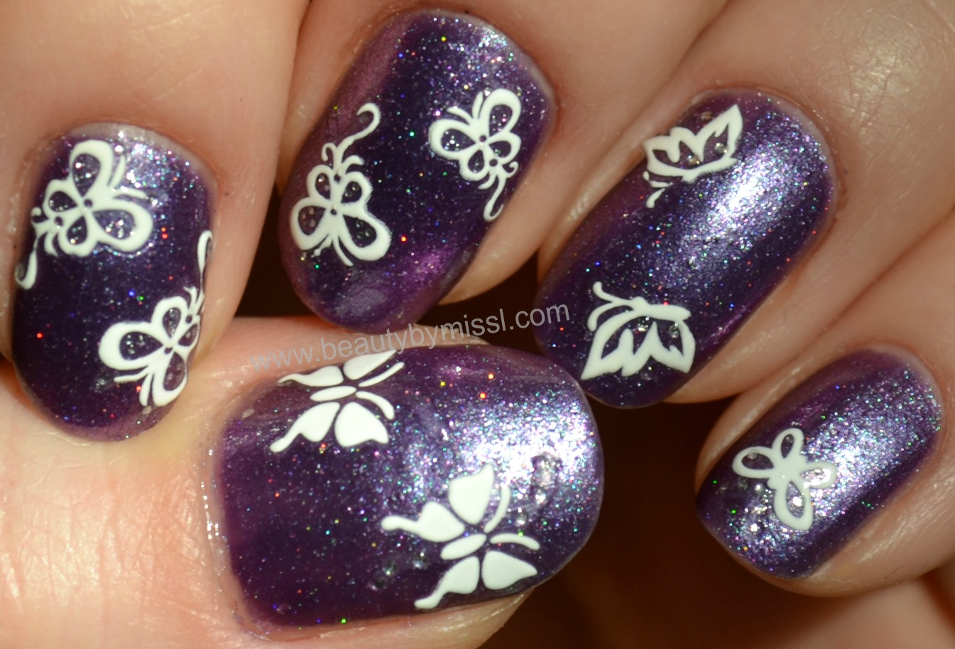 nail art stickers from eBay, nails of the day, simple manicure