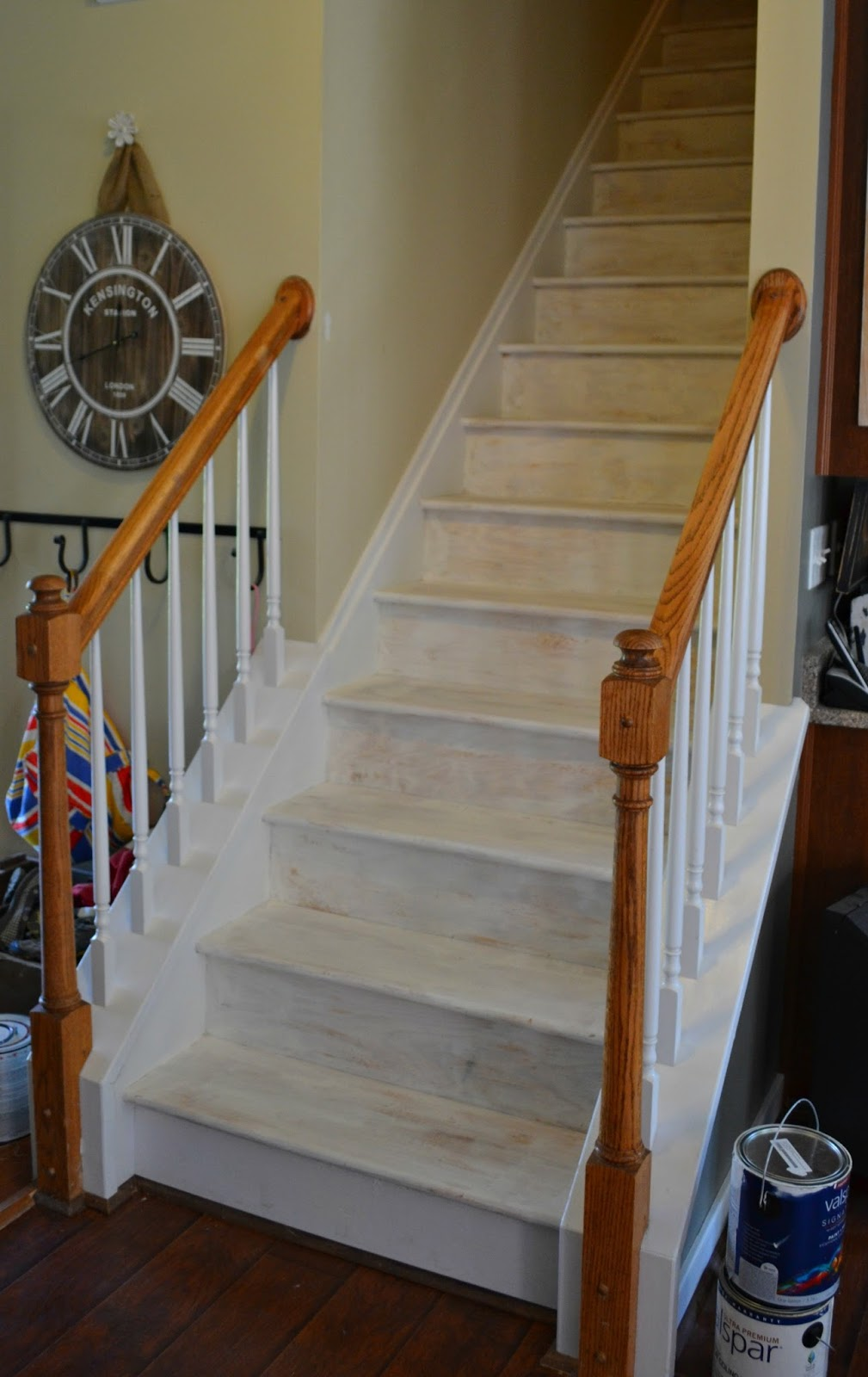 Down To Earth Style Painted Stairs