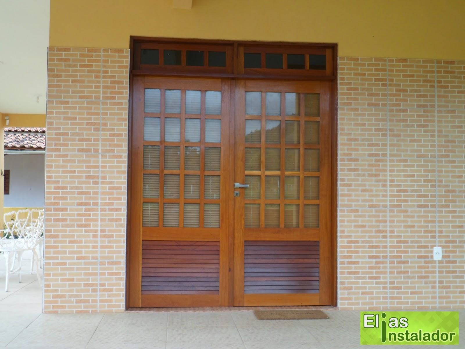 #78A229 Elias Instalador: Persiana horizontal cor madeira em porta e janela 606 Janelas Em Pvc Cor Madeira